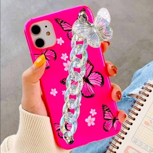 Butterflies 🦋 neon pink phone case ❤️